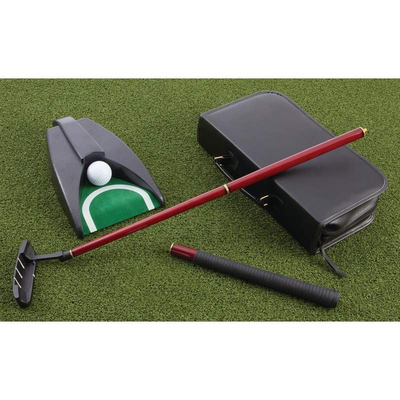 Maxam 4pc Executive Office Putter Set Features Metal Club Head
