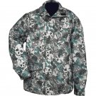 Water-Resistant Skull Camouflage Jacket - Size Large New
