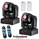 American DJ Inno Pocket Spot LED (Pair) -Control Remote and DMX Cable 25ft.