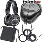 Audio-Technica ATH-M50x Professional Free Cables, Bag and Slappa Case (SL-HP-07)