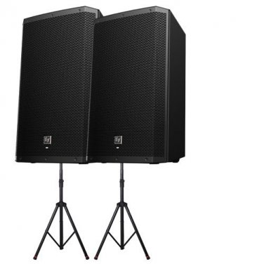 Electro-Voice ZLX-15P Powered DJ 1000W Speakers w/Gator Stands