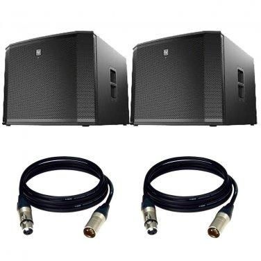 """Electro-Voice ETX-18SP 18"""" Powered Subwoofer. W/ 2 XLR Cables."""