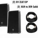 "Electro-Voice ZLX-15P 15"" 2-Way Powered Loudspeaker / Free (2) Xlr to Xlr Cables 20ft ea"