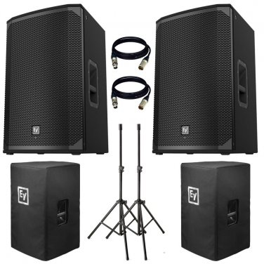 """Electro-Voice EKX-12P Powered 12"""" 2-Way Speaker US. Free Stand, Cover and 2 XLR Cables."""