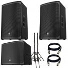 "Electro-Voice EKX-12P With EKX-18SP Powered 18"" Subwoofer, Stand and 2 XLR Cables"