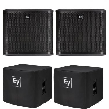 "Electro-Voice ZXA1 -Sub 12"" (PAIR) Powered Subwoofer. W/ 2 Covers."