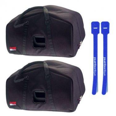 "Gator GPA-E15 Speaker Bag for 15"" EON 15 PA Speaker Pair w/ Cable Ties"