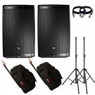JBL EON615 15-Inch With Free Gator Cases, Stands and 2 XLR Cables.