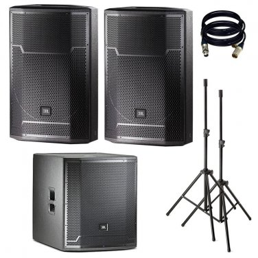 JBL PRX715 15-Inch Two-Way . With PRX718XLF, Stand and XLR Cables.