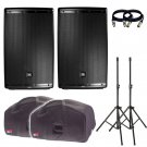 JBL EON615 15-Inch Two-Way With Free Covers, Stands and 2 XLR Cables.