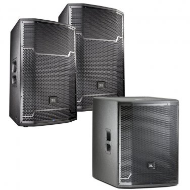 JBL PRX715 and PRX718XLF Powered Speaker Bundle