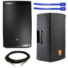 "JBL EON615 Powered 15"" 2-Way System Speaker w/ Padded Cover, XLR Cable & Cable Ties"