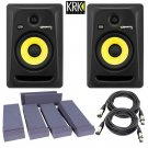 KRK RP6G3-NA Rokit 6  + Free Talent Insolation PAD and PSC XLR Cables