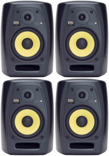 """(4) Brand New KRK VXT-8 8"""" VXT Series Monitor Speakers with 8"""" Woven Kevlar Woofer"""