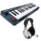 M-Audio Keystation Mini 32 (2014) USB Keyboard MIDI Controller. W/ Samson HP10