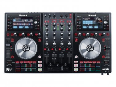 Numark NV DJ Controller for Serato with Intelligent Dual-Display and Touch-Capacitive Knobs