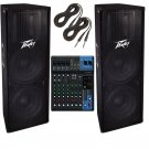 Peavey PV-215 Speaker Package (Pair). W/ Free MG10XU.