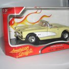 Motormax 1:24 Die Cast Yellow and White 1959 Corvette