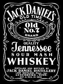 Metal Sign - Jack Daniels - Black