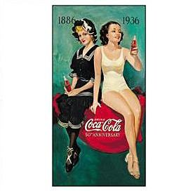 Metal Sign - Coca Cola - 50th Annv. Bathers