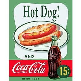 Metal Sign - Coca Cola - Hot Dog