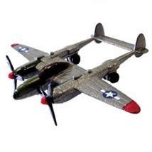 """P-38 Lightning Silver 3.5"""" Diecast Model"""