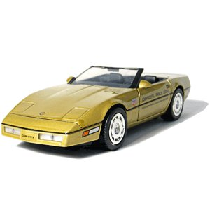 GreenLight Collectibles 1986 Gold Corvette Indy 500 1/24 Pace Car Pace Car Garage Series