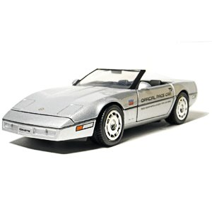 Greenlight Collectibles 1986 Silver Corvette Indy 500 1/24 Pace Car Pace Car Garage Series