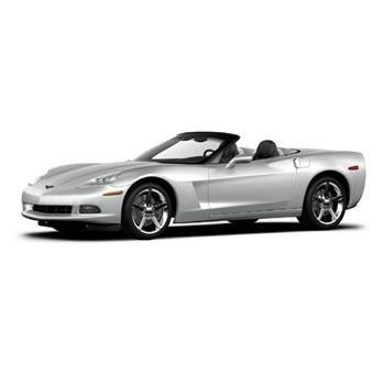 Mattel 2005 Silver C6 Convertible 1/18 Corvette