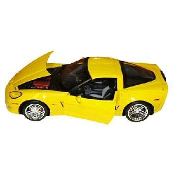 Mattel 2006 Velocity Yellow Z06 Coupe 1/18 Corvette