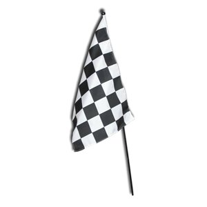 Checkered Flag 12 x 18 Stick Flag BSI Products