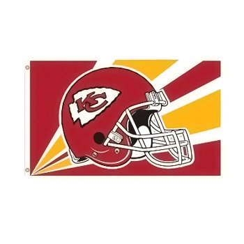 Kansas City Chiefs NFL Helmet design 3x5 flag BSI Products