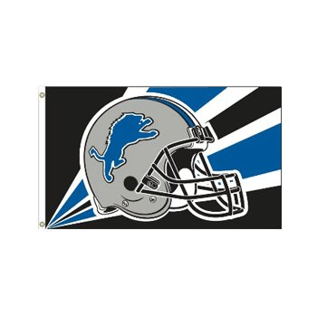 Detroit Lions NFL Helmet design 3x5 flag BSI Products -94221B
