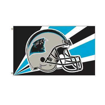 Carolina Panthers NFL Helmet design 3x5 flag BSI Products -94229B
