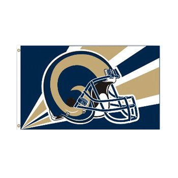St Louis Rams NFL Helmet design 3x5 flag BSI Products -94262B
