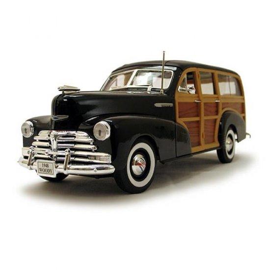 Welly 1948 Chevrolet Fleetmaster (Woody) Black 1:18