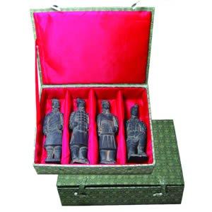 """Terra Cotta Box of 4 Warriors 6"""""""