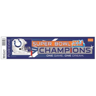 Indianapolis Colts Super Bowl Champ Bumper Strip Wincraft