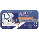 Indianapolis Colts Super Bowl Champ License Plate Wincraft