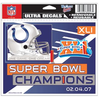 Indianapolis Colts Super Bowl Champ Ultra Decal-4.5x6 Wincraft