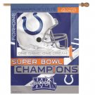 Indianapolis Colts Super Bowl Champ Vertical Banner Flag Wincraft