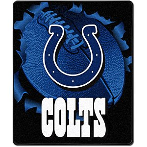 Indianapolis Colts 50x60 Plush Throw Blanket