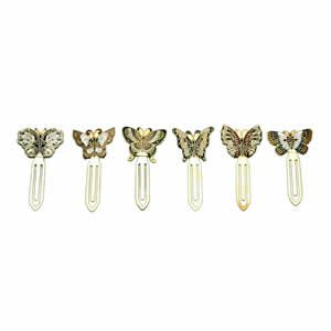 Cloisonne Bookmark, Butterfly Set 6