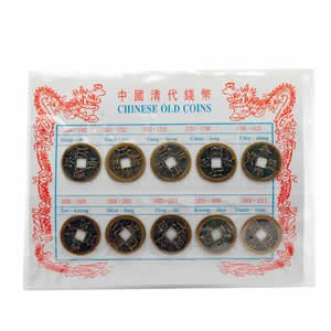 Round Chinese Ancient Coin Replica Set