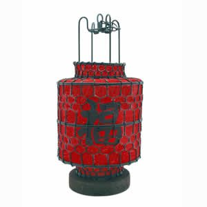 Red Lantern - Single w/ Wood Base