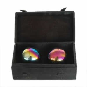 Chinese Health Balls - Rainbow Chrome (40mm)