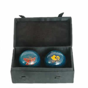 Chinese Health Balls, Cloisonne - Butterfly (44mm)