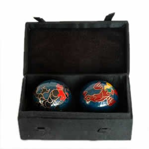 Chinese Health Balls, Cloisonne - Dragon/Phoenix (44mm)