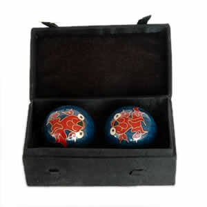 Chinese Health Balls, Cloisonne - Goldfish (44mm)