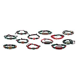 Tibetan dZi Bracelet - set of 12 (Assorted Styles)